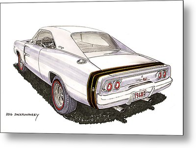 1968 Dodge Charger R T Metal Print