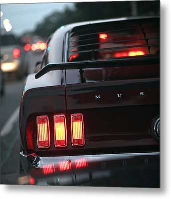 Metal Print featuring the photograph 1969 Ford Mustang Mach 1 by Gordon Dean II