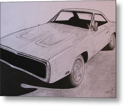 1970 Dodge Charger Metal Print by Gayle Caldwell