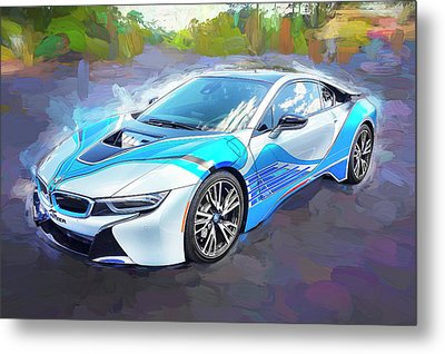 Metal Print featuring the photograph 2015 Bmw I8 Hybrid Sports Car by Rich Franco