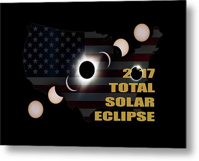 2017 Total Solar Eclipse Across America Metal Print