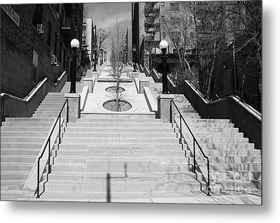 215th Street Stairs Metal Print