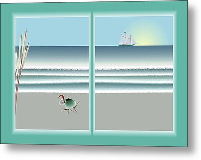 24x36 Window On The Water Metal Print by Steve Smyth