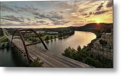 360 Bridge Sunset Metal Print