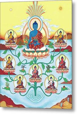 8 Medicine Buddhas Metal Print by Carmen Mensink