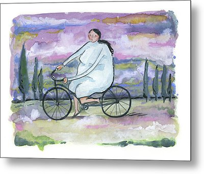A Beautiful Day For A Ride Metal Print by Leanne WILKES