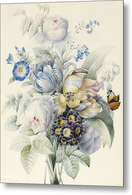 A Bunch Of Flowers Metal Print by Pierre Joseph Redoute
