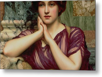 A Classical Beauty Metal Print by John William Godward