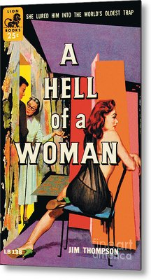 Metal Print featuring the painting A Hell Of A Woman by Morgan Kane