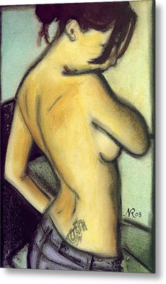 A Liaison With Ink Metal Print by Natalie Roberts
