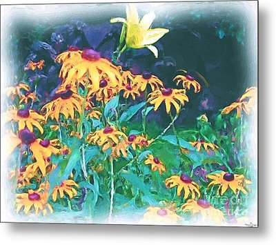 A Lily In The Field Metal Print by Patricia Griffin Brett