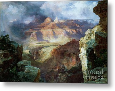A Miracle Of Nature Metal Print by Thomas Moran
