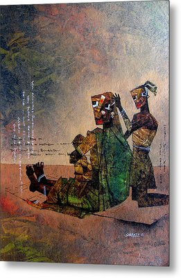 A Mother With Siblings Metal Print by Sharath Palimar