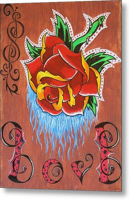 A Rose For The Wife Metal Print by Landon Clary