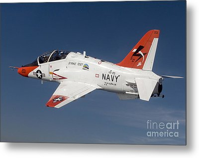 A T-45c Goshawk Training Aircraft Metal Print by Stocktrek Images