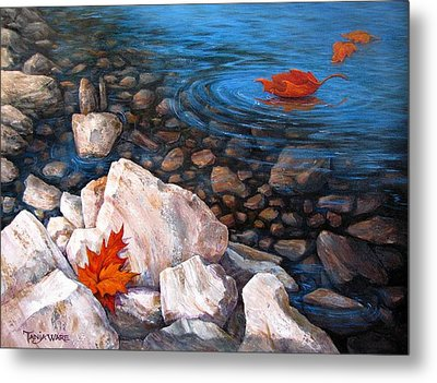 A Touch Of Fall Metal Print by Tanja Ware