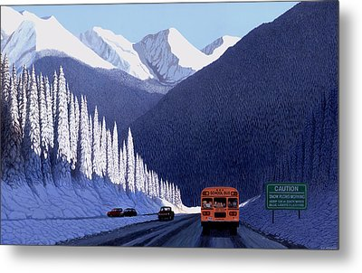 A Winter Drive In British Columbia Metal Print by Neil Woodward