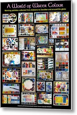 A World Of Water Colour Metal Print