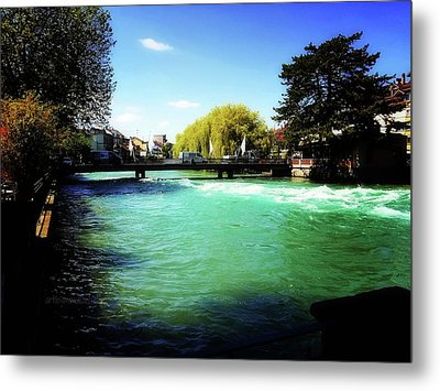 Metal Print featuring the photograph Aare River by Mimulux patricia no No