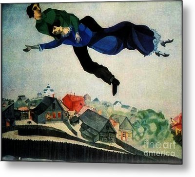 Above The Town Metal Print by Chagall