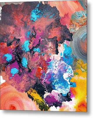 Abstract Acrylic Painting Picture Metal Print by Sumit Mehndiratta
