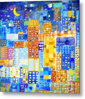 Abstract City Metal Print by Setsiri Silapasuwanchai
