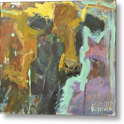 Metal Print featuring the painting Abstract Cow Painting by Robert Joyner