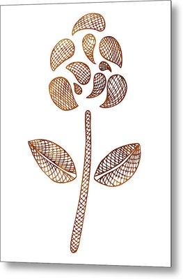 Abstract Flower Metal Print by Frank Tschakert