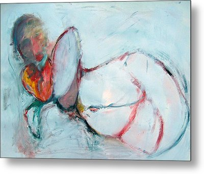 Abstract Nude Metal Print by Brooke Wandall