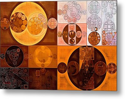 Abstract Painting - Cinnamon Metal Print