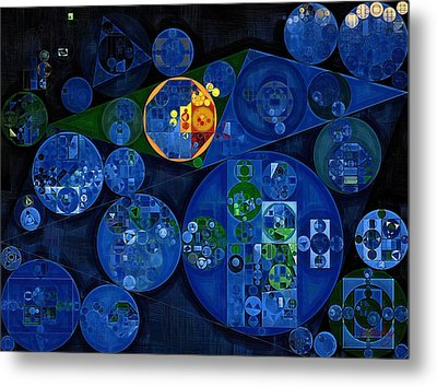 Abstract Painting - Dark Midnight Blue Metal Print