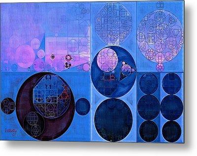 Abstract Painting - Han Blue Metal Print