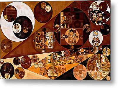 Abstract Painting - Light Brown Metal Print