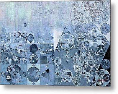 Abstract Painting - Light Steel Blue Metal Print