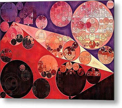 Abstract Painting - Milano Red Metal Print