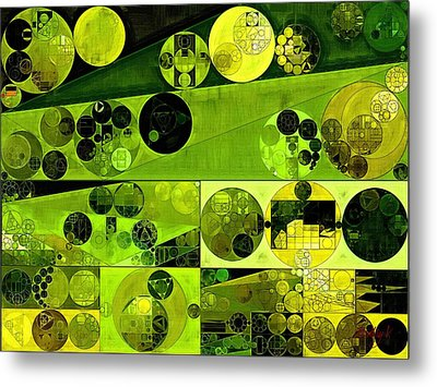 Abstract Painting - Olive Drab Metal Print