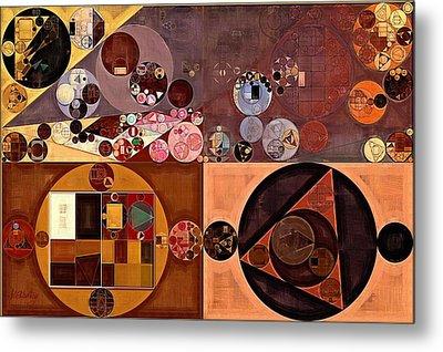 Abstract Painting - Peanut Metal Print by Vitaliy Gladkiy