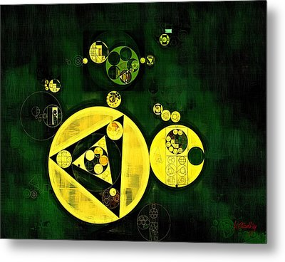 Abstract Painting - Phthalo Green Metal Print by Vitaliy Gladkiy