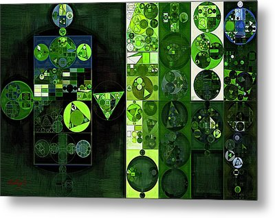 Abstract Painting - Sap Green Metal Print
