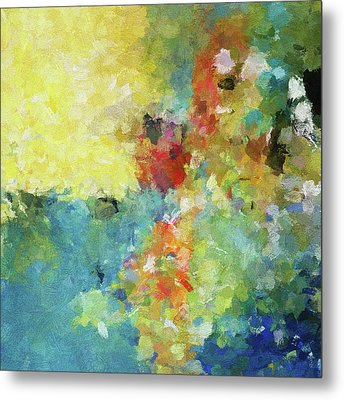 Abstract Seascape Painting Metal Print