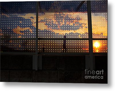 Abstract Silhouettes Metal Print