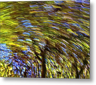 Abstract Trees Metal Print by Susan Leggett