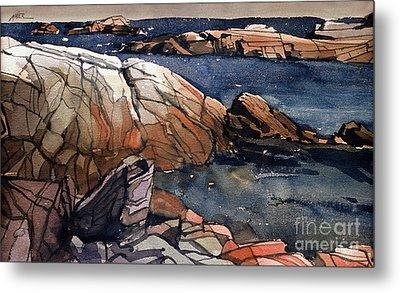 Acadia Rocks Metal Print by Donald Maier