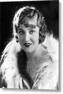 Actress Agnes Ayres Metal Print by Underwood Archives