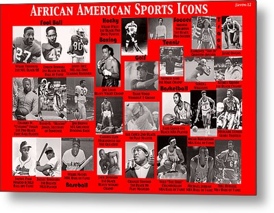 African American Sports Icons Poster Metal Print