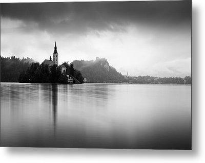 After The Rain At Lake Bled Metal Print
