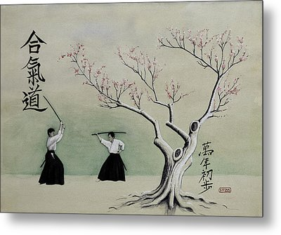 Aikido Always Beginning Metal Print by Scott Manning