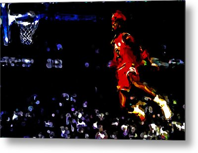 Air Jordan In Flight Iv Metal Print by Brian Reaves