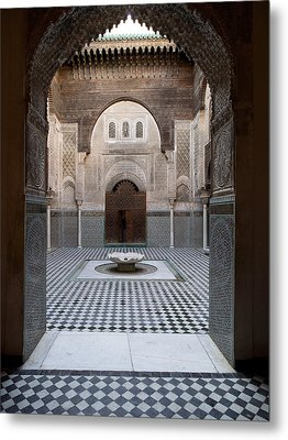 Al-attarine Madrasa Built By Abu Metal Print by Panoramic Images