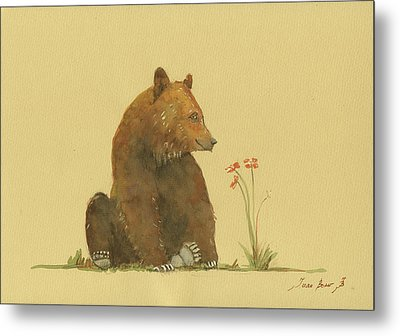 Alaskan Grizzly Bear Metal Print by Juan Bosco